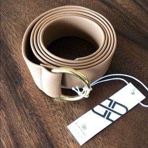 B-LOW THE BELT Tan Belt NWT